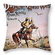 Buffalo Bill: Poster, 1893 Throw Pillow