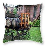 Buffalo Trace Barrel Wagon Throw Pillow