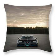 Bugatti Chiron Throw Pillow