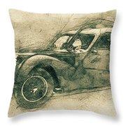 Bugatti Type 57 - Atlantic 3 - 1934 - Automotive Art - Car Posters Throw Pillow