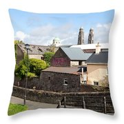 Buildings In A Town, Mullingar, County Throw Pillow