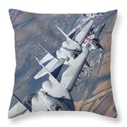 Bulgarian And Polish Air Force Mig-29s Throw Pillow