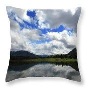 Bull Lake Reflection Throw Pillow