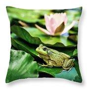 Bullfrog Throw Pillow