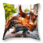 Bullish - Da Throw Pillow