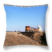 Burlington Northern Santa Fe Bnsf - Railimages@aol.com Throw Pillow