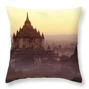 Burma Landscape Throw Pillow