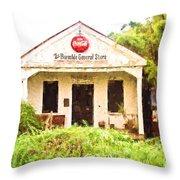 Burnside General Store - Digital Painting Throw Pillow