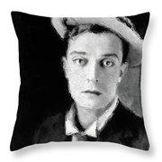 Buster Keaton, Legend Throw Pillow
