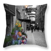 Butlers Wharf London Throw Pillow