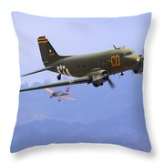 C-47 Gooney Bird At Salinas Throw Pillow