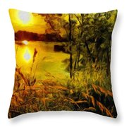C Landscape Throw Pillow
