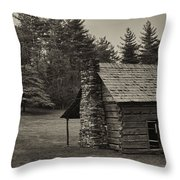 Cabin On The Blue Ridge Parkway - 15 Throw Pillow