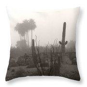 Cactus Fog Throw Pillow