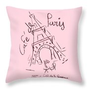 Cafe De Paris Throw Pillow