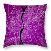 Cairo Street Map - Cairo Egypt Road Map Art On Colored Backgroun Throw Pillow