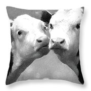 Calfs Throw Pillow