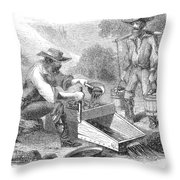 California Gold Rush, 1860 Throw Pillow