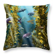 California Kelp Forest Throw Pillow