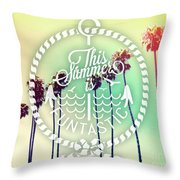 California Palms IIi Throw Pillow