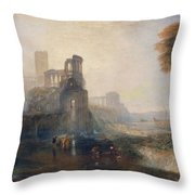 Caligula's Palace And Bridge Throw Pillow