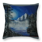Calmness Under Moon Throw Pillow