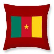 Camaroon Flag Throw Pillow