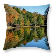 Camp Blanton Autumns Reflection Throw Pillow