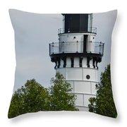 Cana Island Lighthouse Throw Pillow