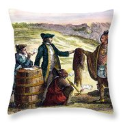Canada: Fur Traders, 1777 Throw Pillow