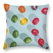 Candy Scattered Throw Pillow