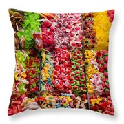 Candy Stand - La Bouqueria - Barcelona Spain Throw Pillow