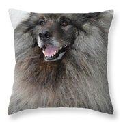 Canine Beauty Throw Pillow