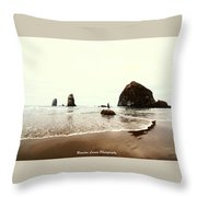Canon Beach Throw Pillow