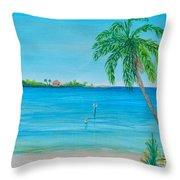 Cape Coral Beach Throw Pillow