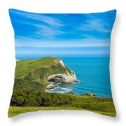 Cape Farewell Able Tasman National Park Throw Pillow