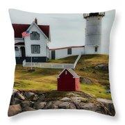 Cape Neddick Lighthouse 4 Throw Pillow