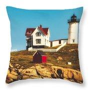 Cape Neddick Lighthouse Throw Pillow