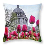 Capitol Tulips Throw Pillow