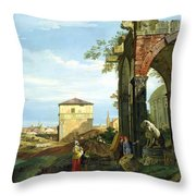 Capriccio With Motifs From Padua Throw Pillow