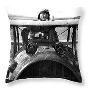 Captain Eddie Rickenbacker  Throw Pillow