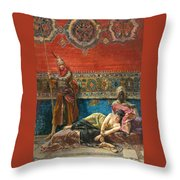 Captive In The Harem Throw Pillow
