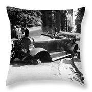 Car Accident, C1919 Throw Pillow