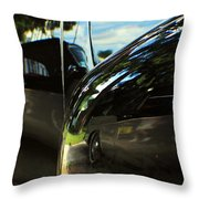Car Reflection 8 Throw Pillow