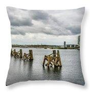 Cardiff Bay Panorama Throw Pillow
