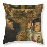 Cardinal Bessarion With The Bessarion Reliquary Throw Pillow