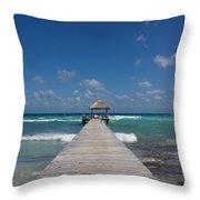 Caribbean Landing Throw Pillow