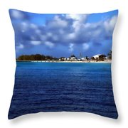 Caribbean Sea And Beach Throw Pillow