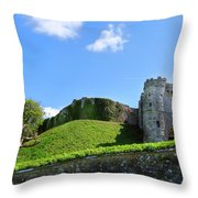 Carisbrooke Castle - Isle Of Wight Throw Pillow