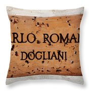 Carlo Romana - Dogliani Throw Pillow